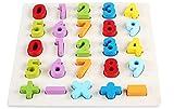 (エイチケーエイチ) HKH 遊びながらお勉強 知育 遊具 木製 形合わせ はめ込み パズル キッズ 子供 おもちゃ 勉強 (数字)