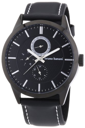 Bruno Banani Men's Quartz Watch Alos BR22058 with Leather Strap