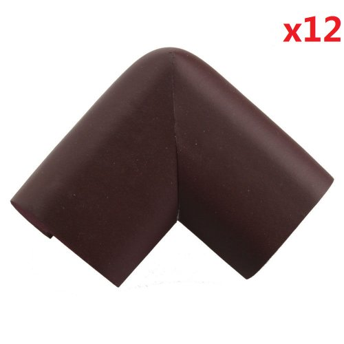 12Pcs Thick Baby Safety Softener Table Edge Guard Protector (Coffee) back-571884