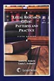 Legal Research Guide: Patterns and Practice (0820564729) by Bonita K. Roberts