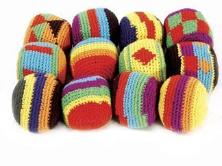 Hackey Sacks Knitted Kick Balls (Pack of 12) - 1