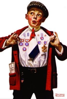 Norman Rockwell: Boy Showing Off Badges - 500Pc Jigsaw Puzzle In A Tin By Serendipity