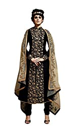 Sitaram womans semistitched georgette zari embroidery shervani type dress material.