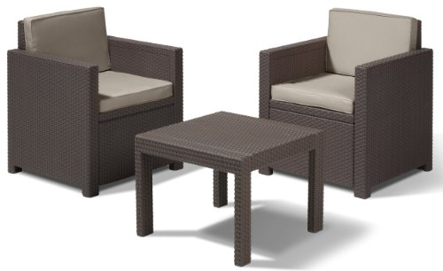 Allibert-Lounge-Set-Victoria-Balcony-Braun-3-teilig