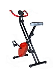 Folding Exercise Bike X-Bike Magnetic Home Fitness Weight Loss Cardio Workout Machine (Red) Comparison-image