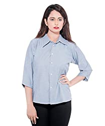 D-Nimes Women's Solid Formal Shirt