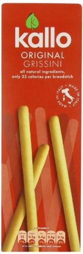Kallo Original Grissini Breadsticks 125 g (Pack of 6)