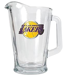 NBA Los Angeles Lakers 60-Ounce Glass Pitcher - Primary Logo by Great American Products