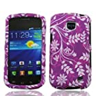 Straight Talk Samsung Galaxy Proclaim Purple Leaf Faceplate Hard Phone Case Cover Cell Phone Accessory 720C SCH-S720C