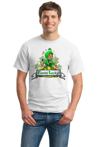 FEELING LUCKY? LEPRECHAUN Unisex T-shirt / Lucky St. Patrick's Day Ireland Pride