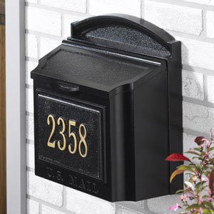 Wall Mounted Locking Mailbox Color: Black