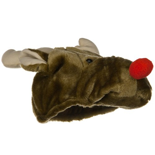 Plush Reindeer Hat Rudolph Red Nosed Christmas Xmas The Movie Santa Claus