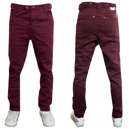 Mens Boys Soul Star Jeans Chino Tapered Twisted Leg 100% Cotton Pants Trousers