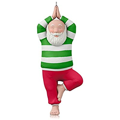Hallmark QGO1679 Santa Yoga Ornament
