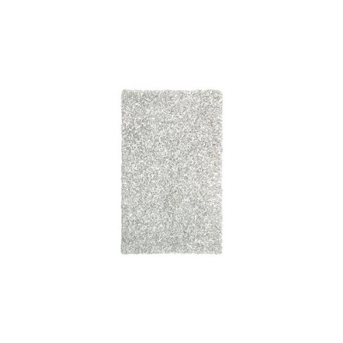 St. Croix Trading Leather Shag Home Area Rug, White
