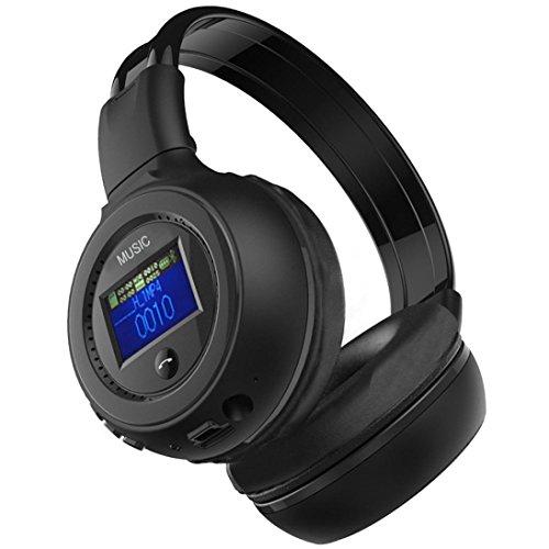 C'est Cuffia senza fili con microfono, mostra auricolare stereo Over-Ear Handsfree auricolare regolabile con gioco LED per PC Computer Gioco