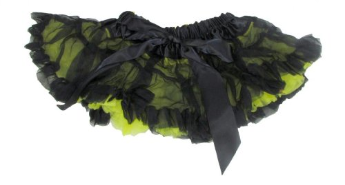 Youth Child Reversible Satin And Chiffon Pettiskirt Tutu (Infant, Black Yellow) front-814604