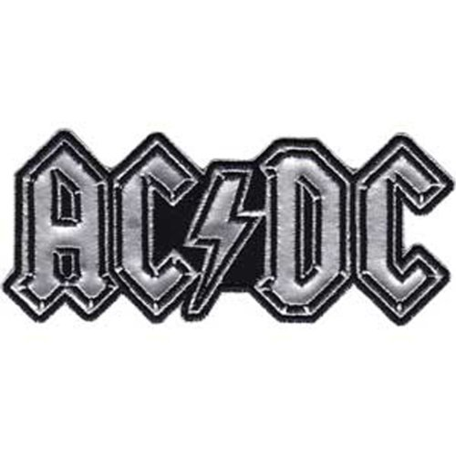 Application AC/DC Chrome Logo Patch