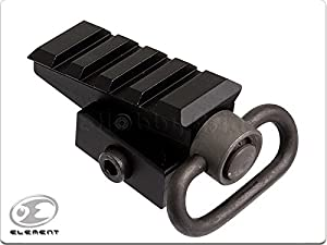 HFIRE HFIRE Element Tactical Pyramid Angled QD Picatinny Rail Adaptor with Sling Swivel - BK
