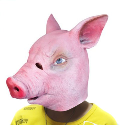 Pig Latex Mask Halloween Costume Props