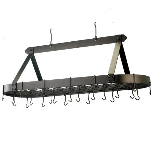 Old Dutch 109BZ Oval Oiled Bronze Pot Rack with 24 Hooks, 48 by 19 by 15-1/2-Inch