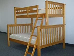 Twin over Full Mission Bunk Bed in Honey from Bedz King