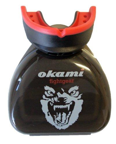 OKAMI Fightgear Mund Und Zahnschutz HI Pro Mouthguard, Schwarz/rot, 12.0021