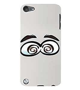 PrintVisa Cartoon Eyes Emotion 3D Hard Polycarbonate Designer Back Case Cover for Apple iPod Touch 5