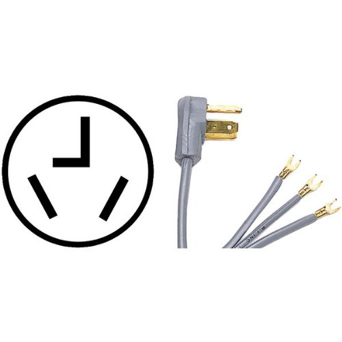 PETRA 90-1010 3-Wire Dryer Cord Open Eyelet 4-Foot 30AB00009W3P7