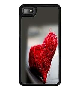 PrintDhaba Heart D-2232 Back Case Cover for BLACKBERRY Z10 (Multi-Coloured)