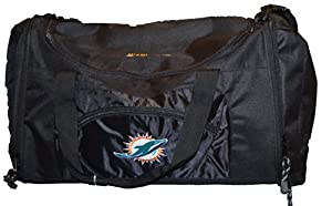Licensed Nfl Concept One Miami Dolphins Roadblock 20 Duffel Bag by Concept 1