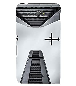 EPICCASE Flying between Scrapers Mobile Back Case Cover For Sony Xperia E4 (Designer Case)