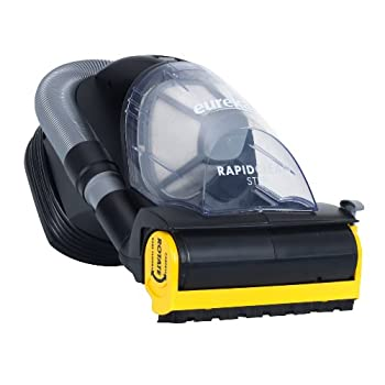 The Eureka RapidClean Step Handheld Vacuum was designed specifically with stairs in mind.   Multi-Surface Cleaning—The RapidClean Step features an on/off brushroll and a bare floor brush that flips down to easily clean non-carpeted stairs and ...