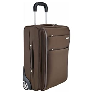 Brown Travel Suitcase Wheeled Cabin Trolley Case - Holiday Flight Bag