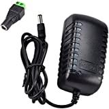 JACKYLED New DC 12V 2A 2.0A Switching Power Supply Adapter For 110V- 240V AC 50/60Hz 2.1mm