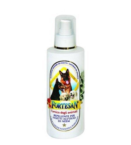 Fortesan Repellente per insetti all'Olio di Neem - Spray naturale ed atossico per cani e gatti, allontana zanzare ed insetti