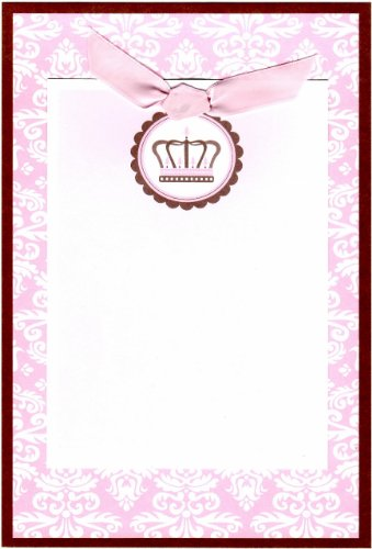SanLori Design Set of 10 Parisian Pink Crown Printable Invitation or Announcement Cards - 1