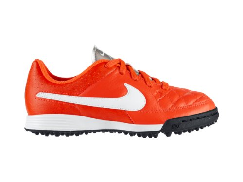 Nike Jr Tiempo Genio Leather TF (631529-810), Rosso - bianco