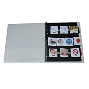 Complete Pictures Kit for Autism Communication : 120 large color PHOTOS, 120 velcro dots, 12 velcro strips, 4 page dividers and folder (pics are compatible with PECS (picture exchange communication system) , ABA, VBA, ABLLS-R)