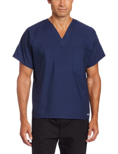 Landau Unisex Scrub Top, Navy, Large (Fashion Seal compare prices)