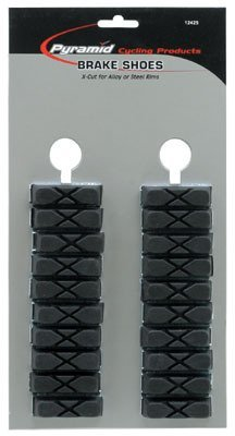 Buy Low Price Pyramid Bicycle Brake Shoes X-Cut Black 10 Pair to Card Weitype (B000AO9ZHA)