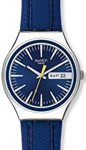 Swatch Irony Blue Suit Day-and-Date Blue Dial Men's watch #YGS747