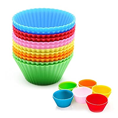 Rainbow baking cups 1 set with 6colors