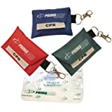 3 pack - CPR Shield Barrier Pocket Masks In KEYRING POUCH - 3 Pack