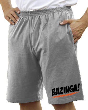 The Big Bang Theory - Bazinga Logo Bermuda Short Heathergrey, M