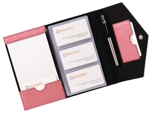 Rolodex Envelope Pink Ribbon Card Case, 72 Card