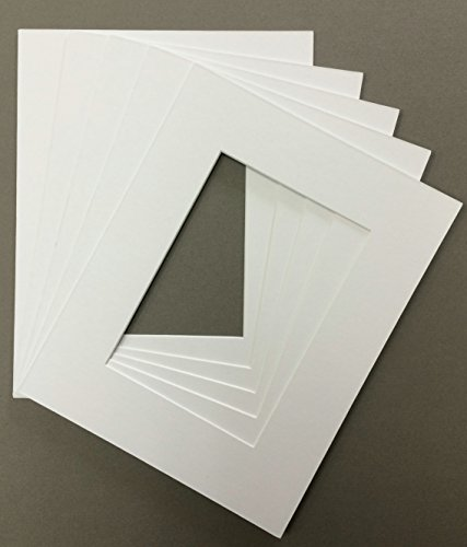 Pack of 5 18x24 White Picture Mats Mattes Matting with White Core Bevel Cut for 13x19 Pictures (Matting Frame compare prices)