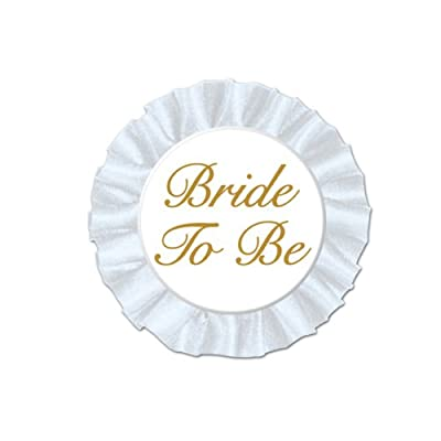 Bride To Be Satin Button Party Accessory (1 count) (1/Pkg)