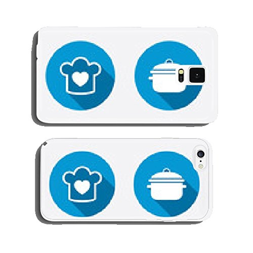 Chief hat, cooking pan icons. Fork and knife. cell phone cover case Samsung S5 (Chief Cooking compare prices)