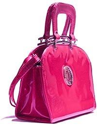 VogueNation Fashionable Fuchsia Pink Color Women Handbag Tote Bag